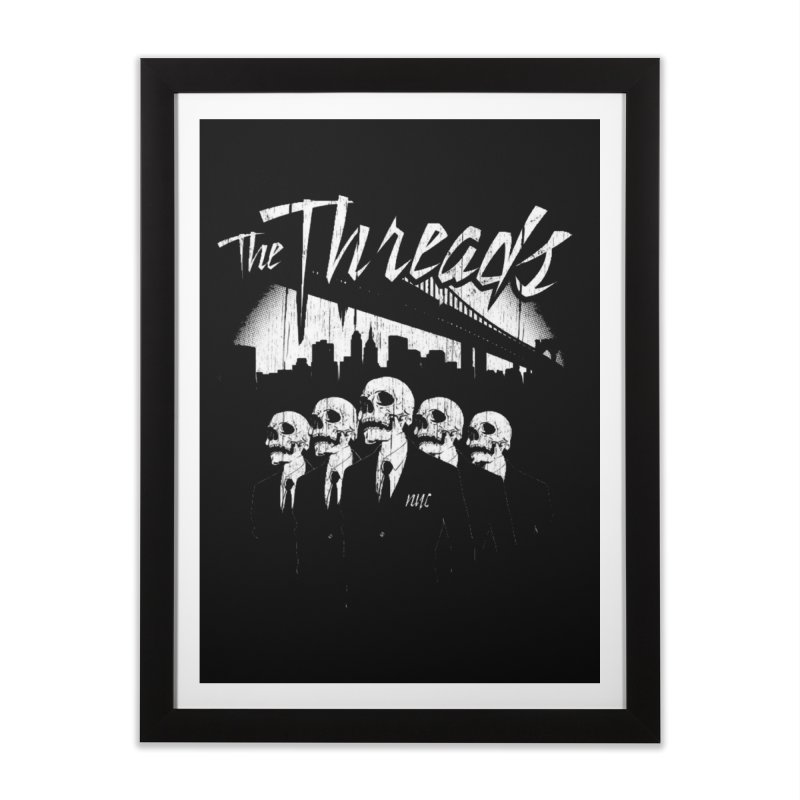 Skeletons in the City Home Framed Fine Art Print by THE THREADS NYC's Artist Shop