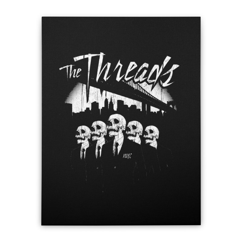 Skeletons in the City Home Stretched Canvas by THE THREADS NYC's Artist Shop