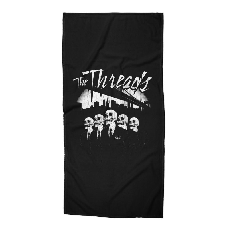 Skeletons in the City Accessories Beach Towel by THE THREADS NYC's Artist Shop