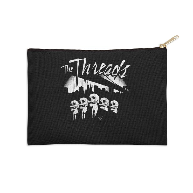Skeletons in the City Accessories Zip Pouch by THE THREADS NYC's Artist Shop
