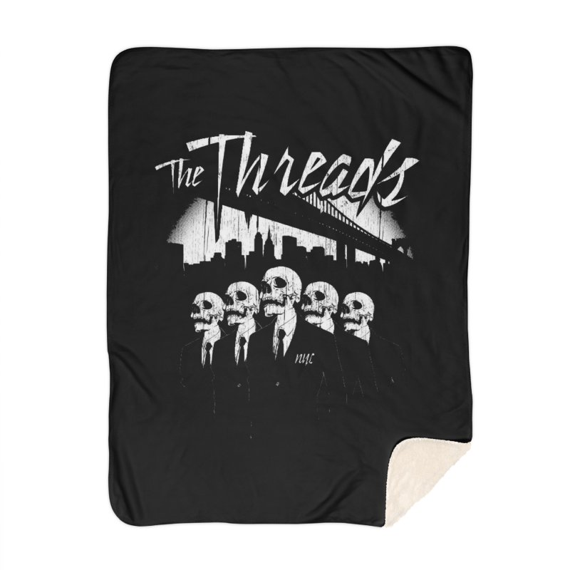 Skeletons in the City Home Blanket by THE THREADS NYC's Artist Shop