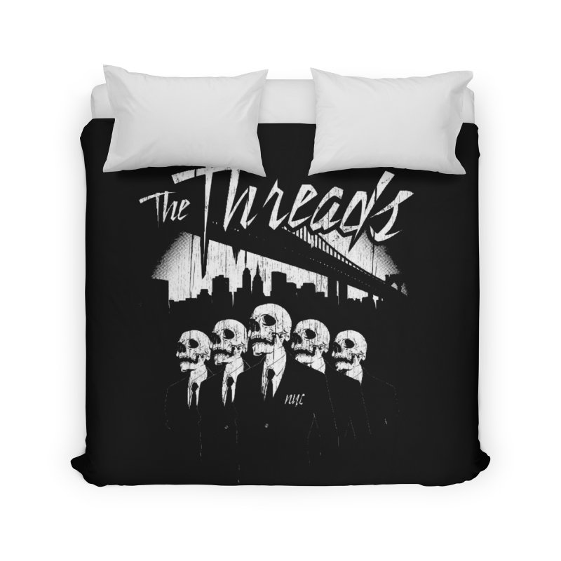Skeletons in the City Home Duvet by THE THREADS NYC's Artist Shop