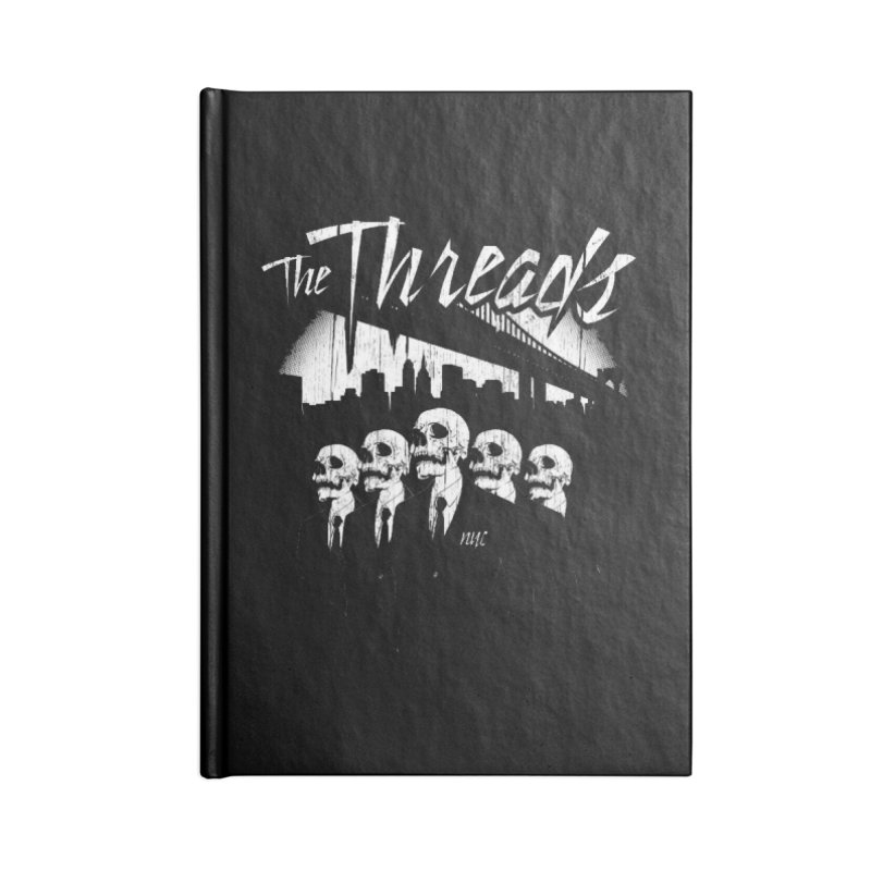Skeletons in the City Accessories Notebook by THE THREADS NYC's Artist Shop