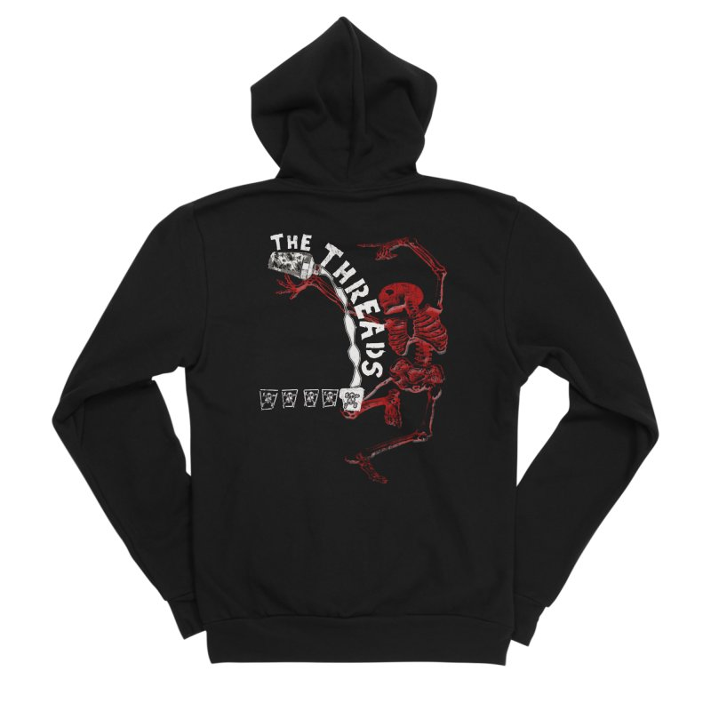 Death By Misadventure Women's Zip-Up Hoody by THE THREADS NYC's Artist Shop