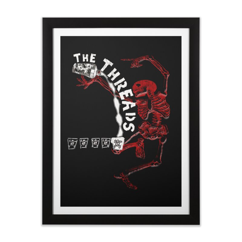 Death By Misadventure Home Framed Fine Art Print by THE THREADS NYC's Artist Shop