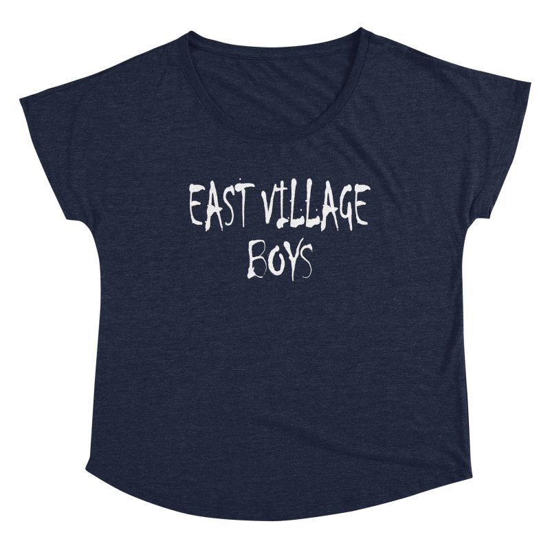 East Village Boys Women's Scoop Neck by THE THREADS NYC's Artist Shop