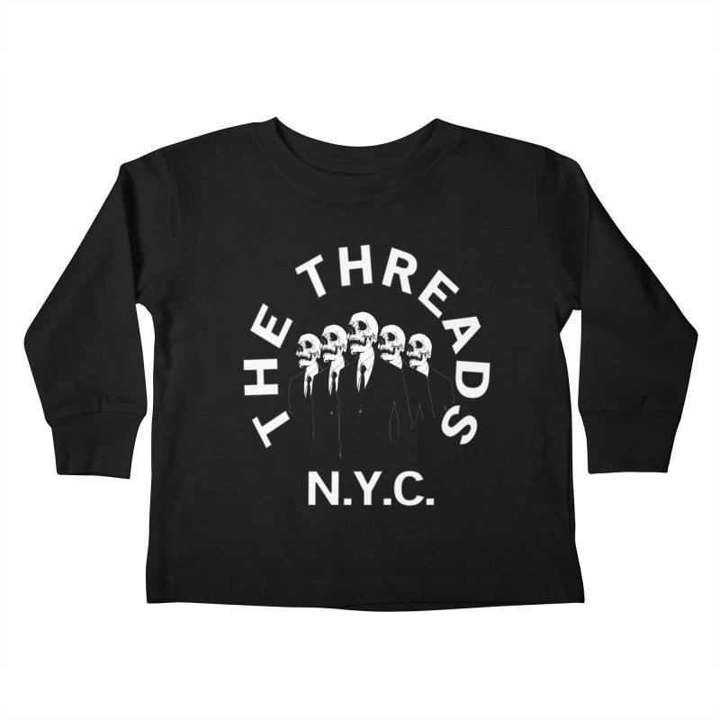 Skeleton Suits Kids Toddler Longsleeve T-Shirt by THE THREADS NYC's Artist Shop