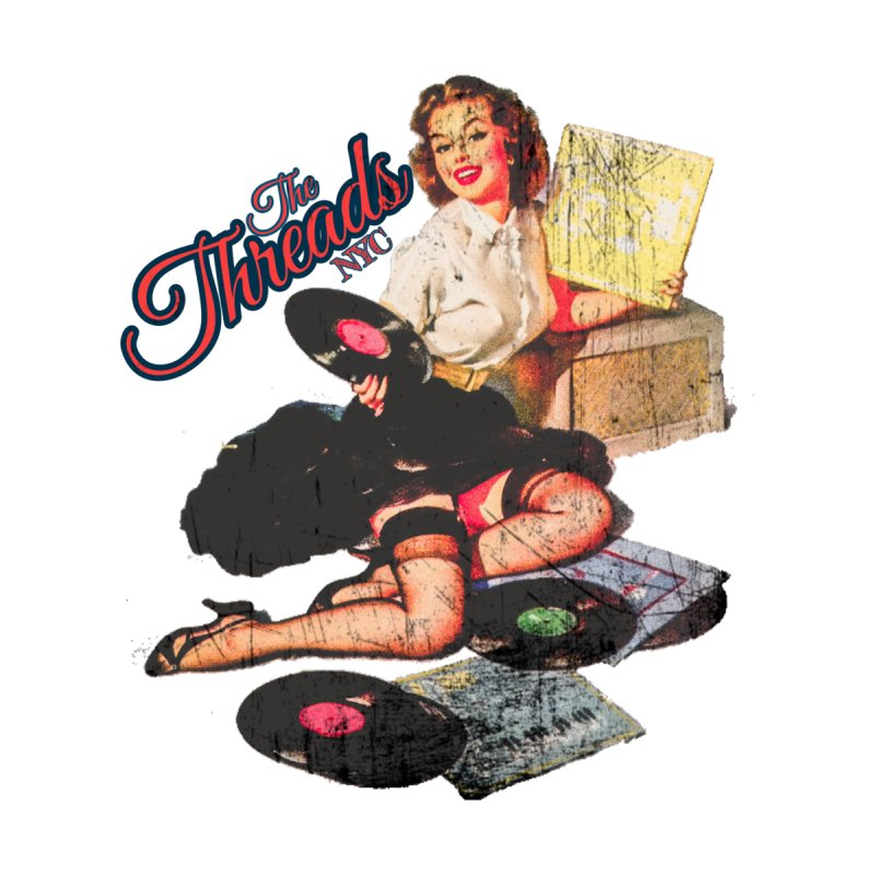 Pinup Girl - Distressed Home Blanket by THE THREADS NYC's Artist Shop