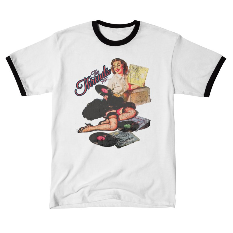 Pinup Girl - Distressed Men's T-Shirt by THE THREADS NYC's Artist Shop