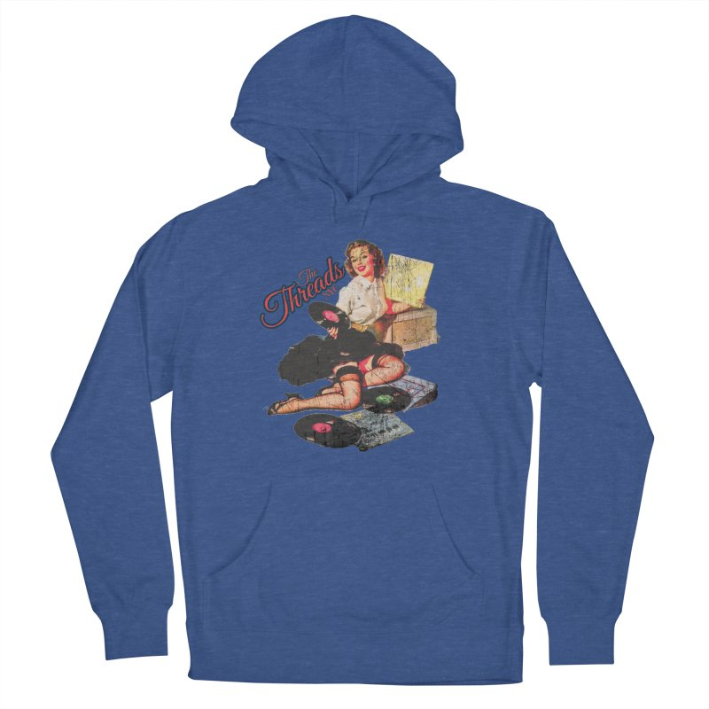 Pinup Girl - Distressed Men's Pullover Hoody by THE THREADS NYC's Artist Shop