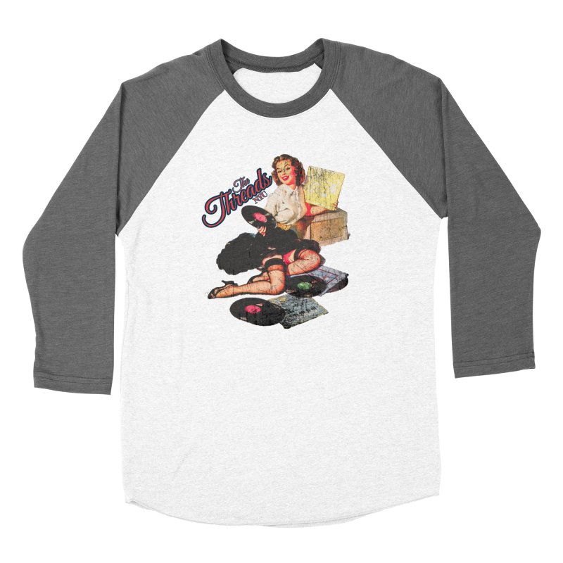Pinup Girl - Distressed Women's Longsleeve T-Shirt by THE THREADS NYC's Artist Shop