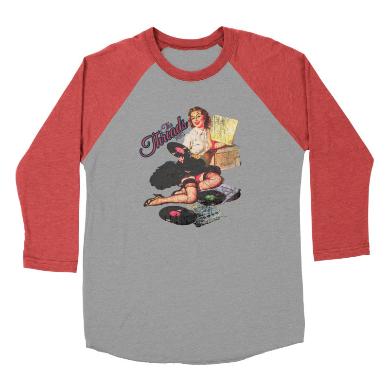 Pinup Girl - Distressed Men's Longsleeve T-Shirt by THE THREADS NYC's Artist Shop
