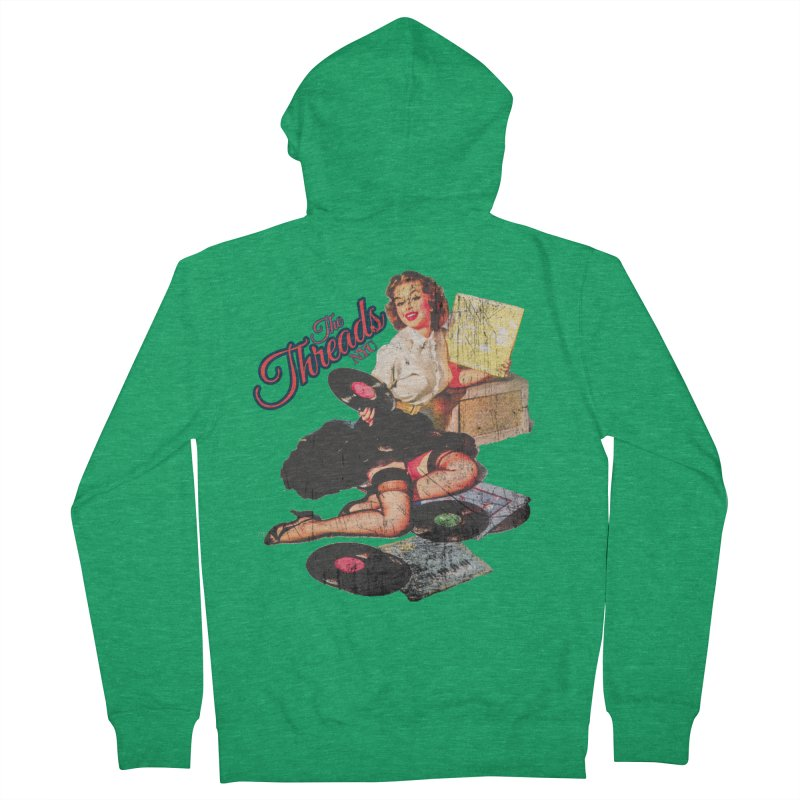 Pinup Girl - Distressed Women's Zip-Up Hoody by THE THREADS NYC's Artist Shop