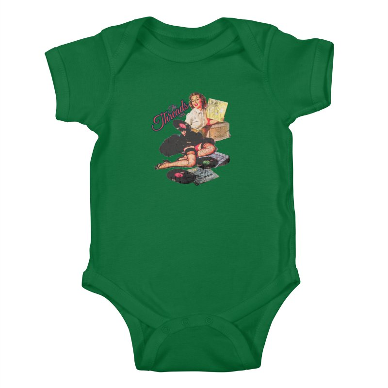 Pinup Girl - Distressed Kids Baby Bodysuit by THE THREADS NYC's Artist Shop