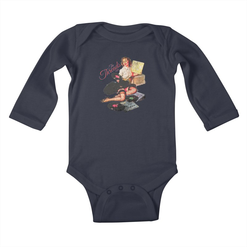Pinup Girl - Distressed Kids Baby Longsleeve Bodysuit by THE THREADS NYC's Artist Shop