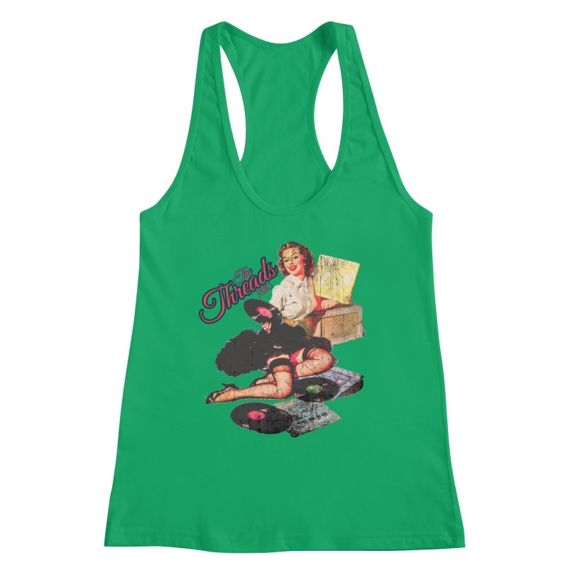 Pinup Girl - Distressed Women's Tank by THE THREADS NYC's Artist Shop