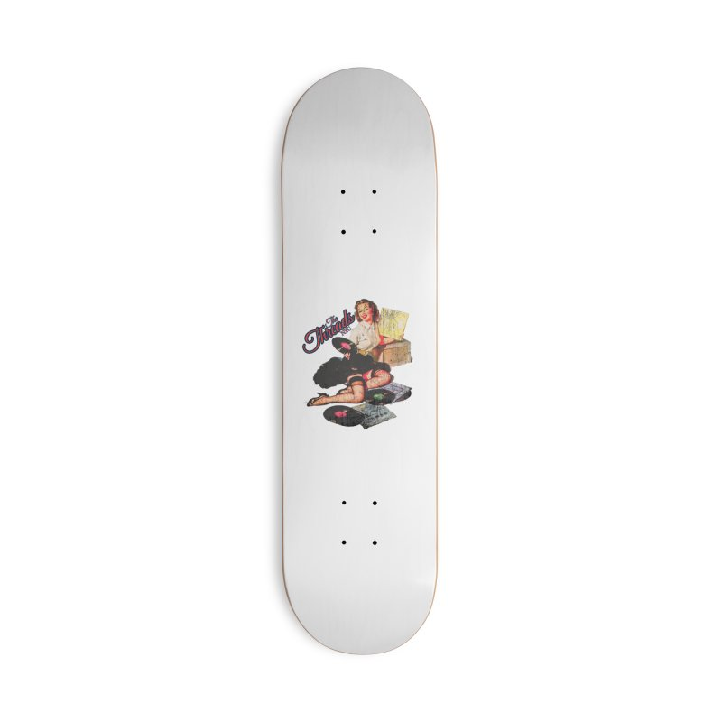 Pinup Girl - Distressed Accessories Skateboard by THE THREADS NYC's Artist Shop