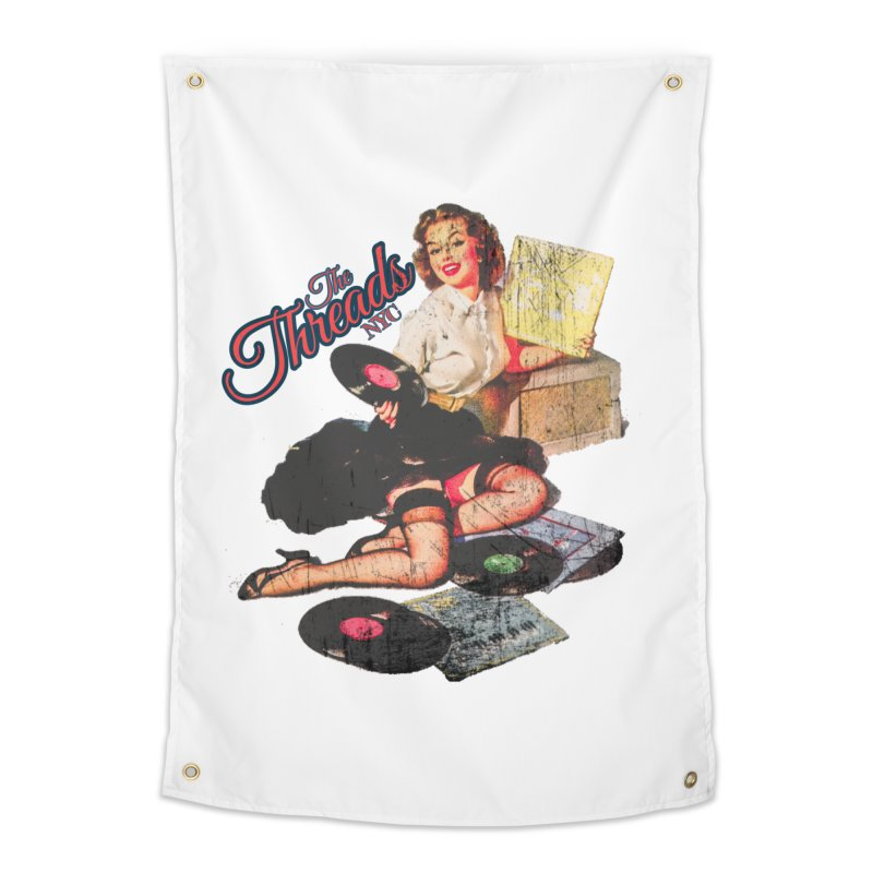 Pinup Girl - Distressed Home Tapestry by THE THREADS NYC's Artist Shop