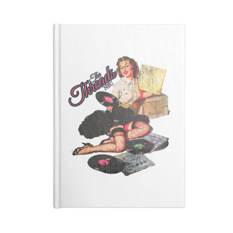 Pinup Girl - Distressed Accessories Notebook by THE THREADS NYC's Artist Shop
