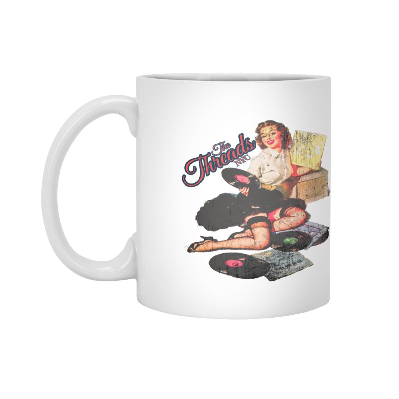 Pinup Girl - Distressed Accessories Mug by THE THREADS NYC's Artist Shop