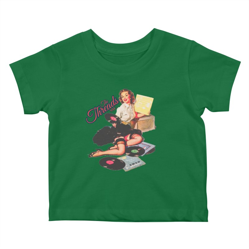Pinup Girl Kids Baby T-Shirt by THE THREADS NYC's Artist Shop