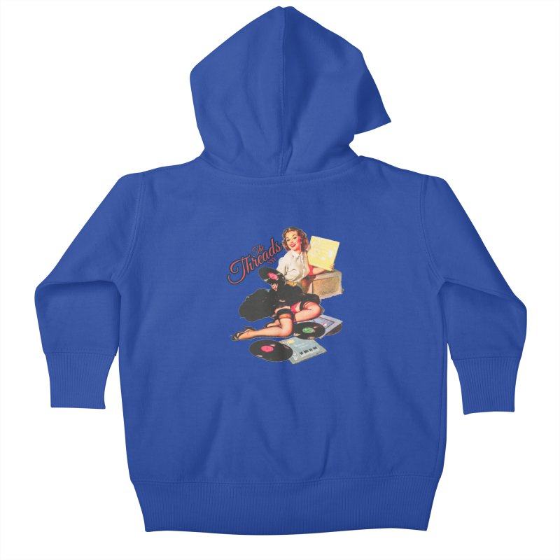 Pinup Girl Kids Baby Zip-Up Hoody by THE THREADS NYC's Artist Shop