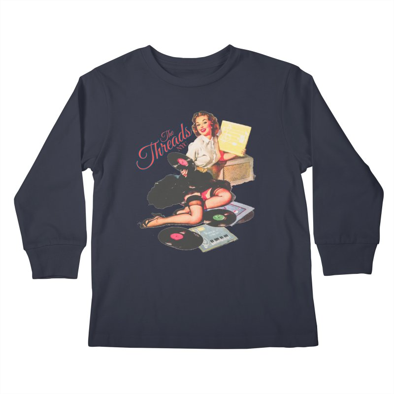 Pinup Girl Kids Longsleeve T-Shirt by THE THREADS NYC's Artist Shop