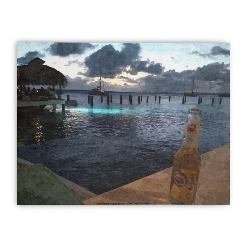 Happy Hour Home Stretched Canvas by The Time Traveler's -  Artist Shop