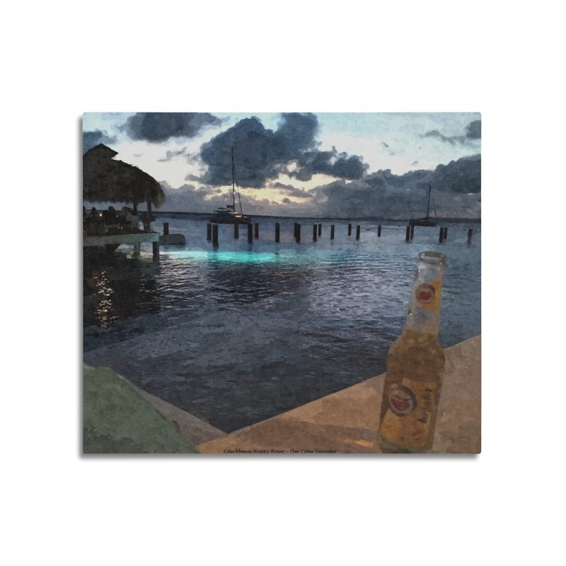 Happy Hour Home Mounted Aluminum Print by The Time Traveler's -  Artist Shop