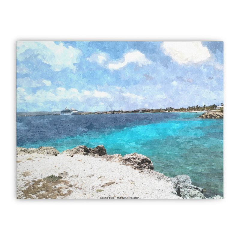 Ocean Blue Home Stretched Canvas by The Time Traveler's -  Artist Shop