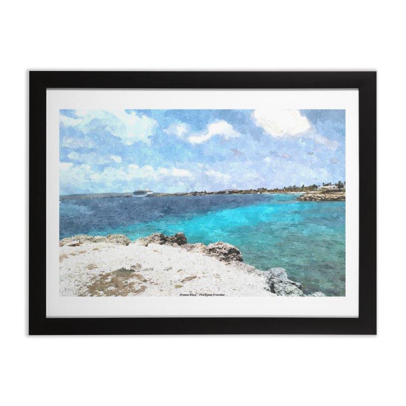 Ocean Blue Home Framed Fine Art Print by The Time Traveler's -  Artist Shop