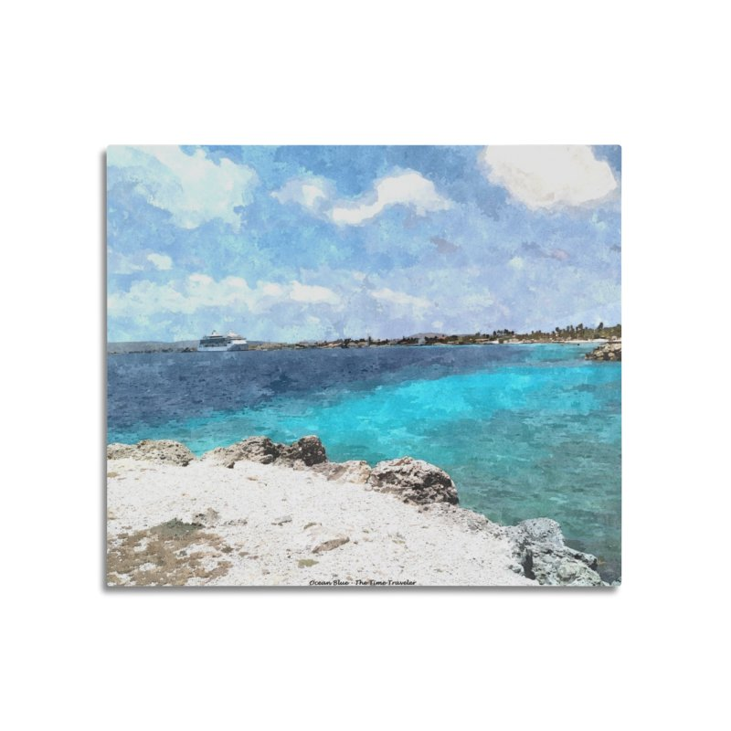 Ocean Blue Home Mounted Aluminum Print by The Time Traveler's -  Artist Shop