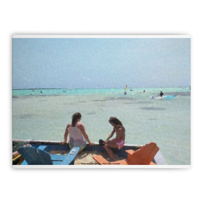Mom and Daughter Home Stretched Canvas by The Time Traveler's -  Artist Shop