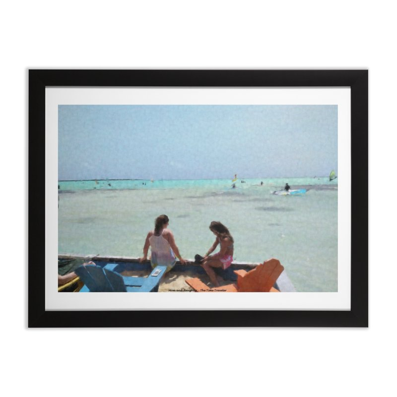 Mom and Daughter Home Framed Fine Art Print by The Time Traveler's -  Artist Shop