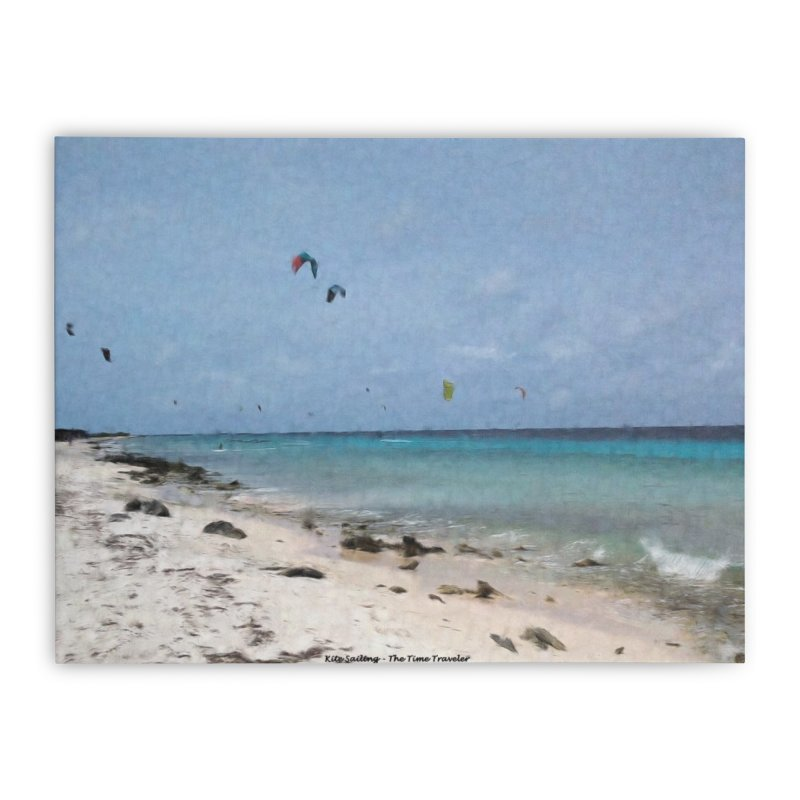Kite Sailing Home Stretched Canvas by The Time Traveler's -  Artist Shop
