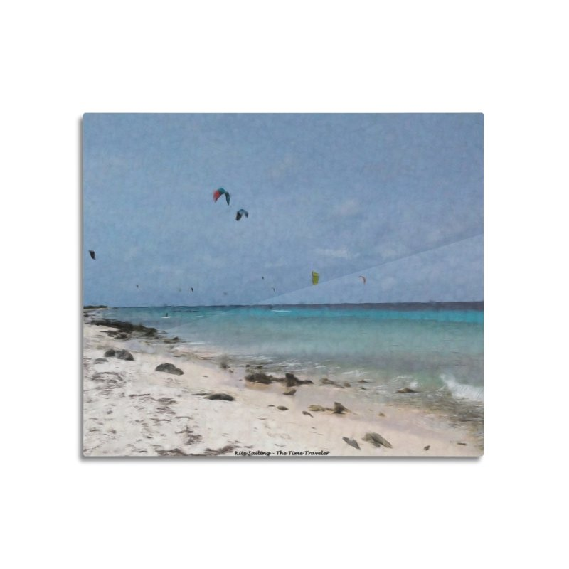Kite Sailing Home Mounted Aluminum Print by The Time Traveler's -  Artist Shop