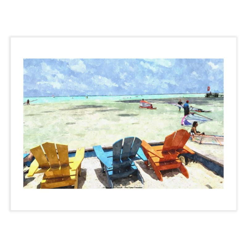 A day at the Beach Home Fine Art Print by The Time Traveler's -  Artist Shop