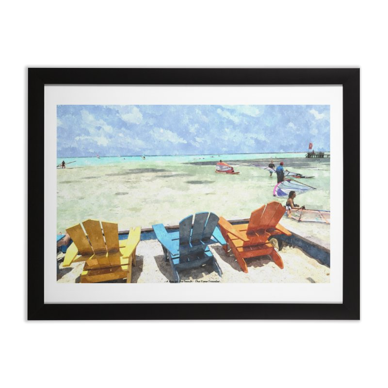 A day at the Beach Home Framed Fine Art Print by The Time Traveler's -  Artist Shop
