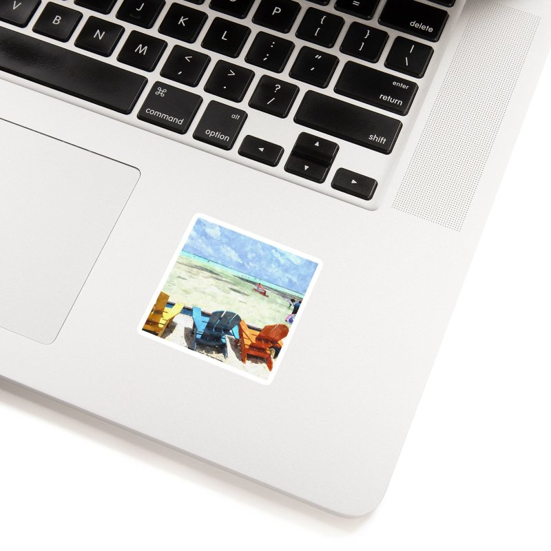 A day at the Beach Accessories Sticker by The Time Traveler's -  Artist Shop