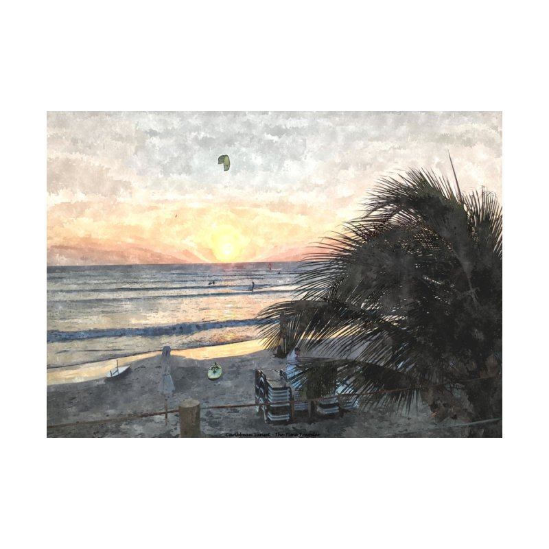 Caribbean Sunset Home Fine Art Print by The Time Traveler's -  Artist Shop