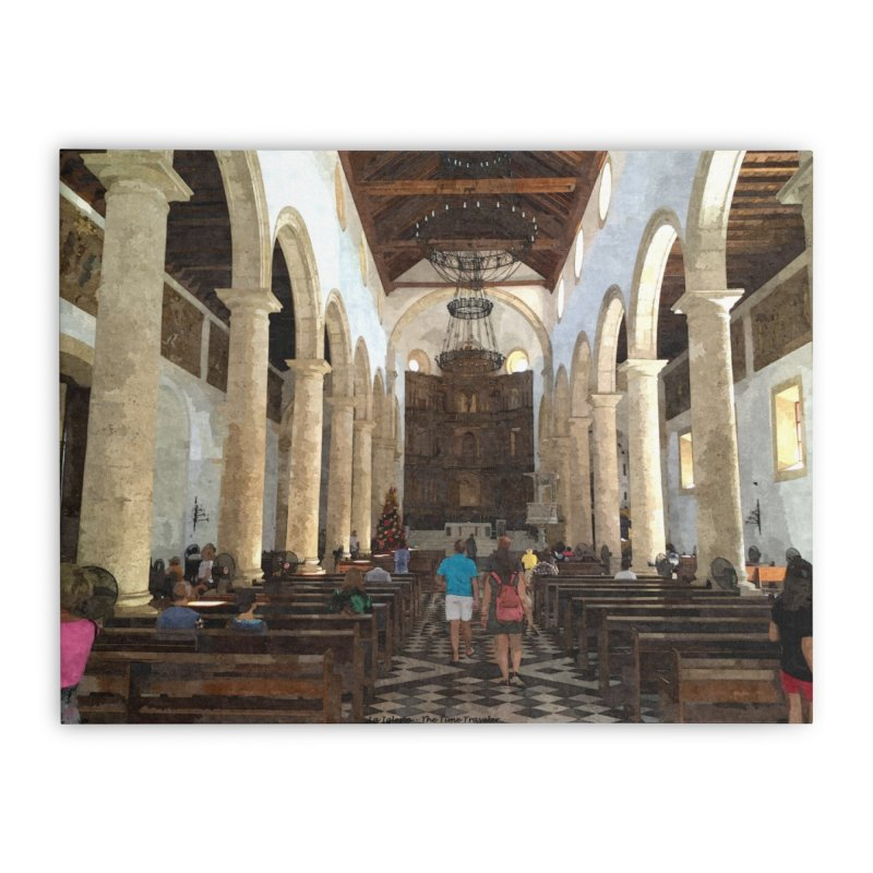 La Iglesia Home Stretched Canvas by The Time Traveler's -  Artist Shop