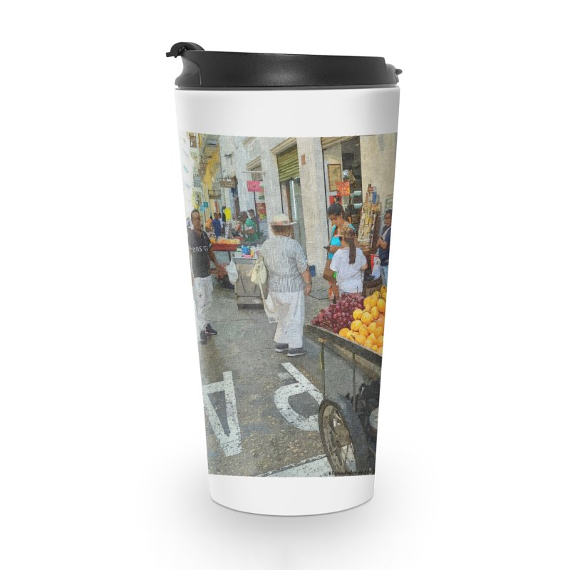 El Vendedor de Frutas Accessories Travel Mug by The Time Traveler's -  Artist Shop