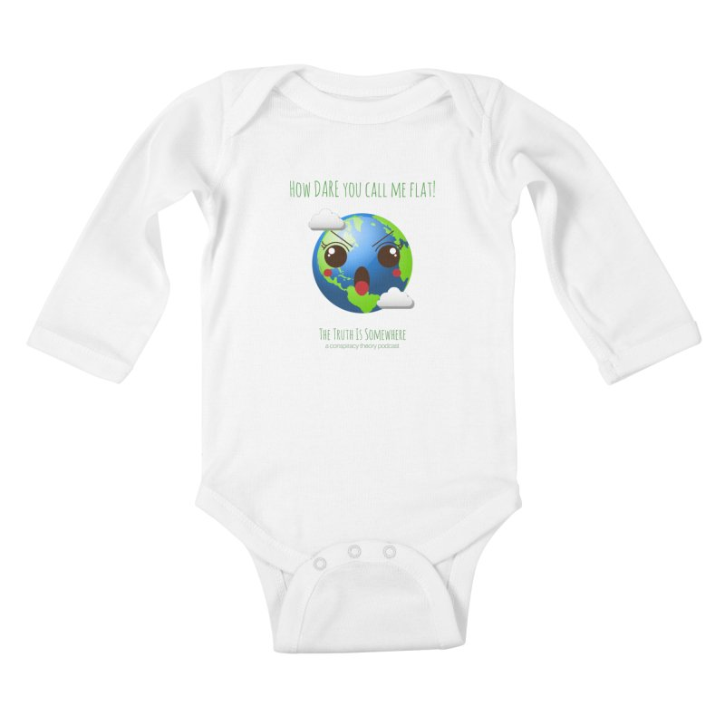 Not Flat Kids Baby Longsleeve Bodysuit by The Truth Is Somewhere
