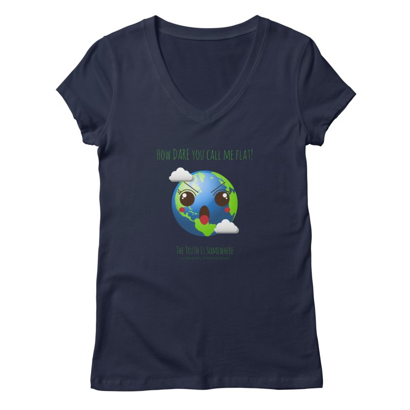 Not Flat Women's Regular V-Neck by The Truth Is Somewhere