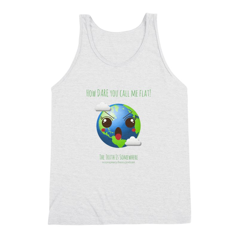 Not Flat Men's Triblend Tank by The Truth Is Somewhere