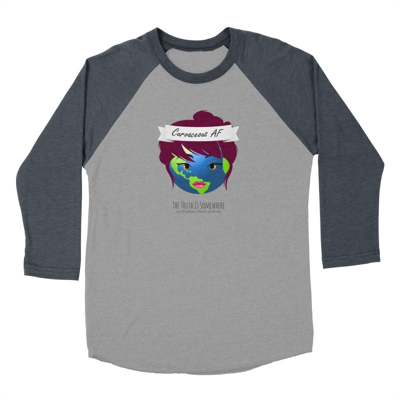 Curvaceous AF Men's Baseball Triblend Longsleeve T-Shirt by The Truth Is Somewhere