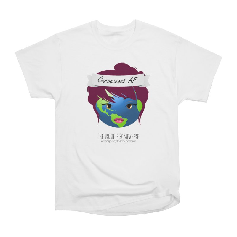 Curvaceous AF Men's Heavyweight T-Shirt by The Truth Is Somewhere