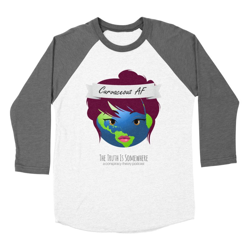 Curvaceous AF Women's Baseball Triblend Longsleeve T-Shirt by The Truth Is Somewhere