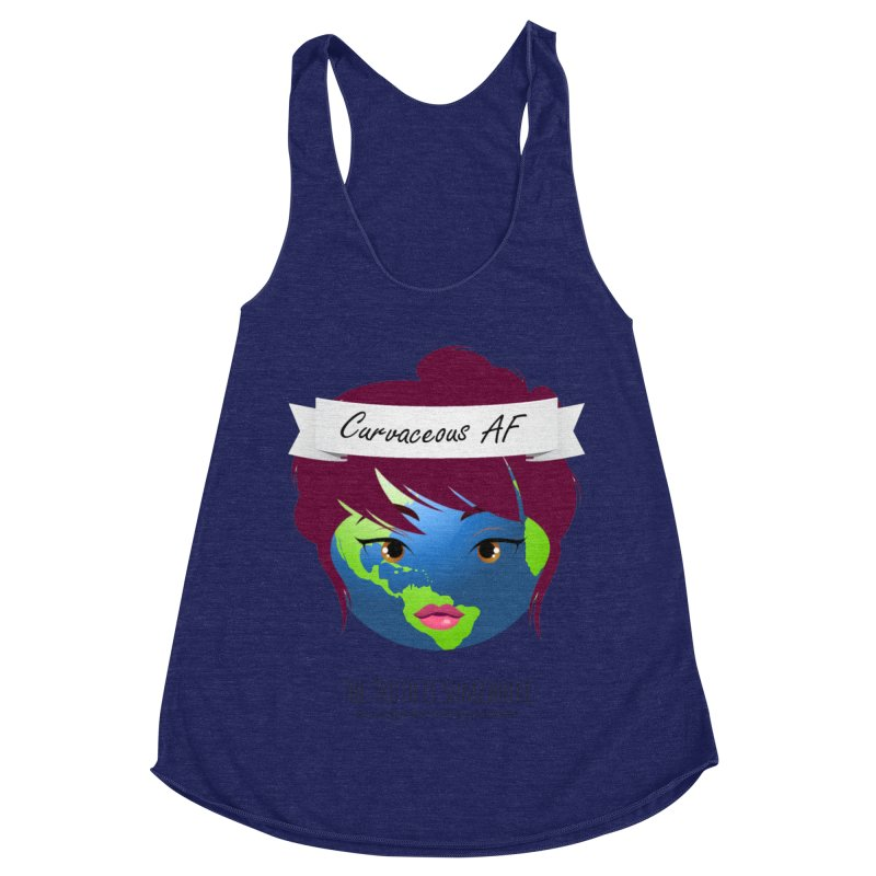 Curvaceous AF Women's Racerback Triblend Tank by The Truth Is Somewhere