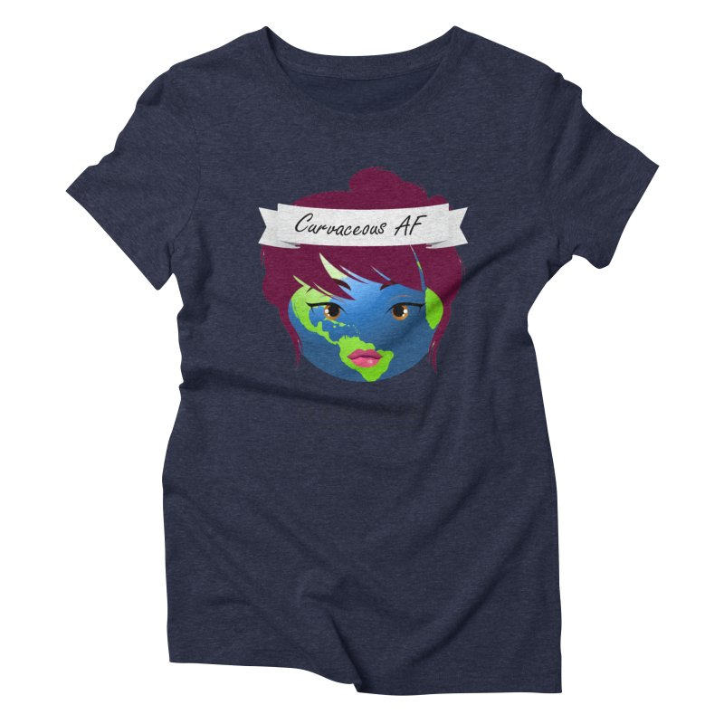 Curvaceous AF Women's Triblend T-Shirt by The Truth Is Somewhere